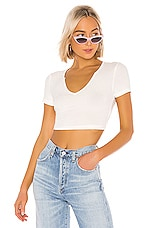 superdown Tylie Notch Neck Top in White