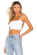 superdown Kellie Knit Crop Top in White