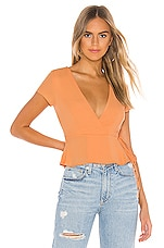 superdown Molly Wrap Tie Top in Tangerine