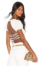 superdown Francie Tie Back Top in White