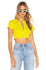 superdown Danika Zip Crop Top in Yellow