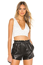 superdown Lacey Crop Top in White