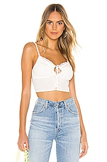 superdown Gretchen Keyhole Top in White