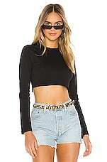 superdown Cynthia Boxy Top in Black