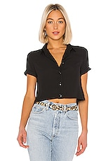 superdown Pam Button Up Top in Black
