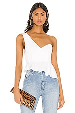 superdown Karlie One Shoulder Top in White