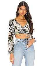 superdown Myla Wrap Top in Floral Multi