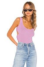 superdown Macy Side Cut Out Bodysuit in Pink