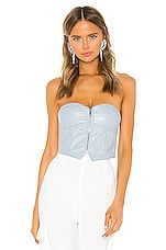 superdown Harley Strapless Bustier Top in Light Blue