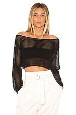 superdown Abby Crochet Crop Top in Black