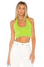 superdown Kimber Knit Halter Top in Neon