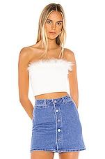 superdown Olivia Strapless Top in White