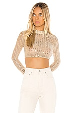 superdown Sia Crop Top in Nude Metallic