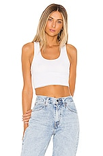 superdown Sonia Rhinestone Crop Top in White