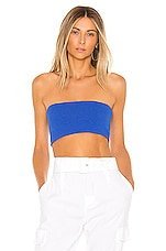 superdown Cindy Ribbed Top in Blue