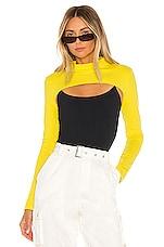 superdown Gina Shrug Top in Yellow