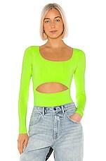 superdown Jordyn Bodysuit in Neon Green