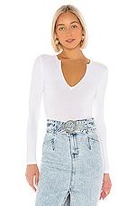 superdown Brandi Deep V Bodysuit in White