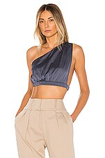 superdown Eileen Crop Top in Slate