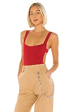 superdown Kristina Strappy Back Bodysuit in Red