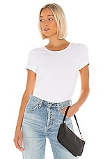 superdown Amanda Tee Bodysuit in White