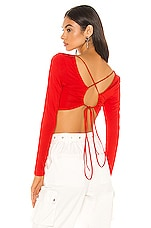superdown Tierra Lace Back Top in Red