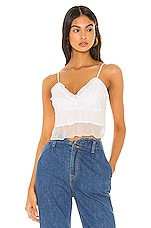 superdown Laureen Ruffle Cami Top in White