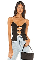 superdown Yasmeen Bustier Top in Black