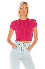 superdown Demi Knit Crop Top in Hot Pink