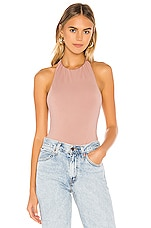 superdown Joanie Halter Bodysuit in Mauve