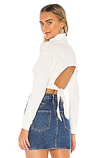 superdown Ria Tie Back Top in White