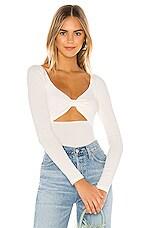 superdown Lila Knot Bodysuit in White
