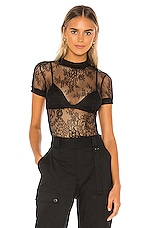 superdown Fiona Lace Top in Black