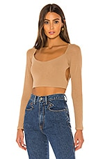 superdown Joelene Cut Out Top in Nude