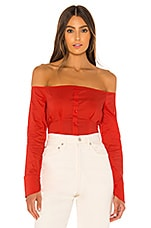 superdown Stevie Button Up Top in Red