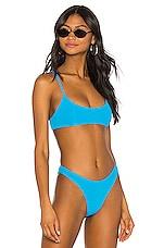 superdown x REVOLVE Mia Ribbed Bikini Top in Aqua Blue