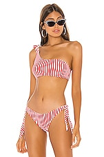 superdown Clari Bikini Top in Red Stripe