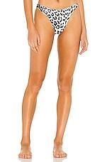 superdown Emma Bikini Bottom in White Leopard