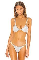 superdown Astrid Bikini Top in Silver
