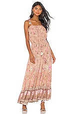 Spell & The Gypsy Collective Wild Bloom Strappy Dress in Blush