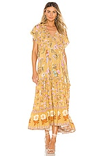 Spell & The Gypsy Collective Wild Bloom Gown in Mustard