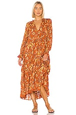 Spell & The Gypsy Collective Aurora Boho Dress in Burnt Ember