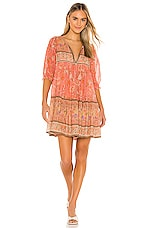 Spell & The Gypsy Collective Seashell Boho Mini Dress in Coral