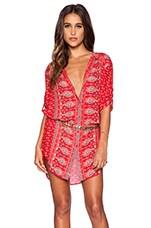 Spell & The Gypsy Collective Gypsiana Shirt Dress in Red Bandana