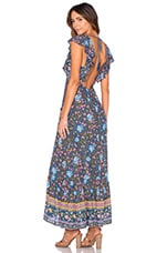 Spell & The Gypsy Collective Folk Town Frill Dress in Navy