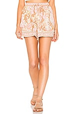Spell & The Gypsy Collective Jungle Flutter Shorts in Cream