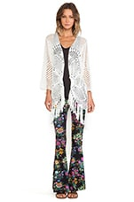 Spell & The Gypsy Collective Mandala Crochet Coat in Ivory