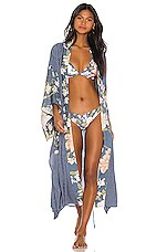 Spell & The Gypsy Collective Waterfall Maxi Robe in Deep Blue