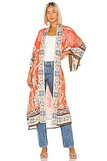 Spell & The Gypsy Collective Cherry Blossom Robe in Tangerine