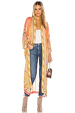 Spell & The Gypsy Collective Madison Maxi Robe in Coral